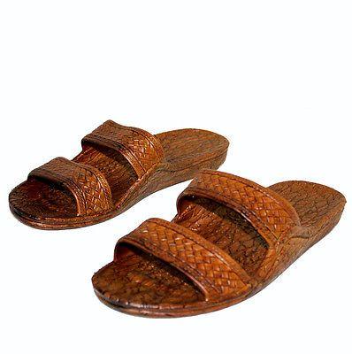 83c270ad6735 Pali Brown Rubber Hawaiian Jesus Sandals