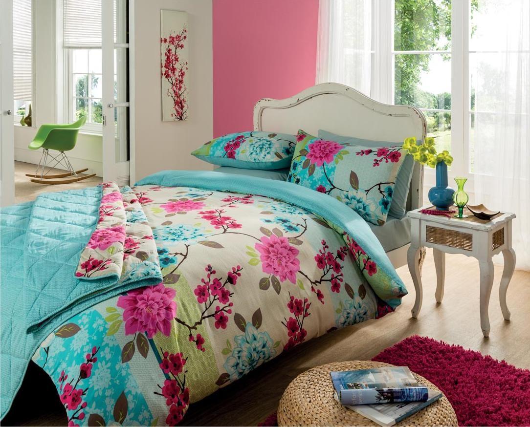Bright Floral Bedding Bedroom Duvet Duvet Cover Sets Duvet Sets