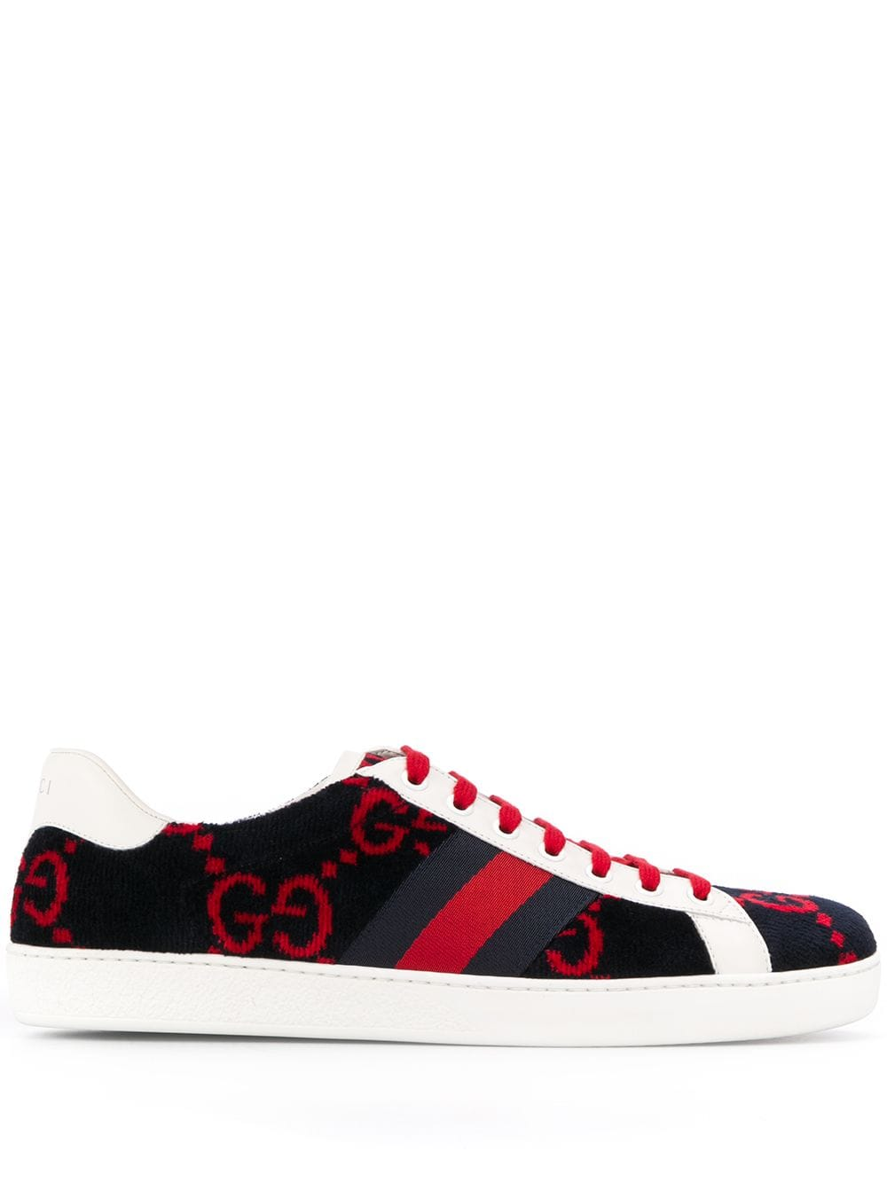 6fe6034c4 GUCCI GUCCI GG LOW-TOP SNEAKERS - BLUE. #gucci #shoes | Gucci in ...