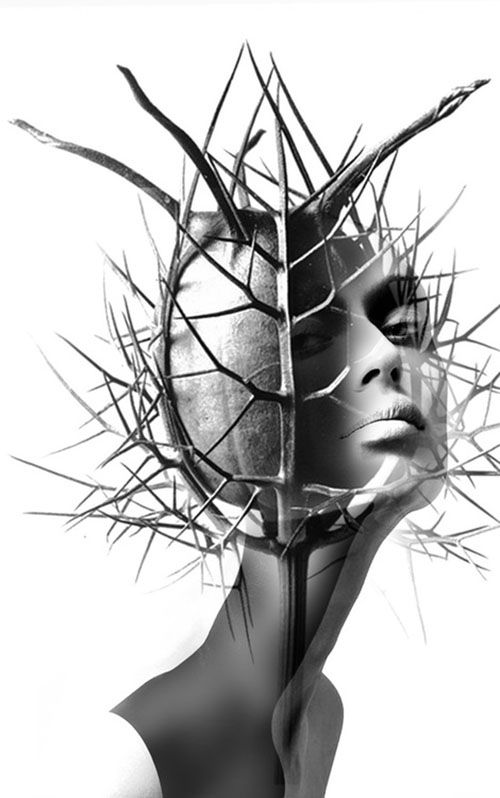 Spanish artist Antonio Mora is a creative photographer who transforms simple portraits into dreamy landscapes filled with intriguing emotion. In the series