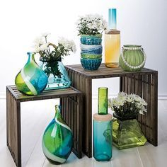 Beautiful pieces of glass in vibrant spring colors. #HomeDecor #Spring #LoveIMAX