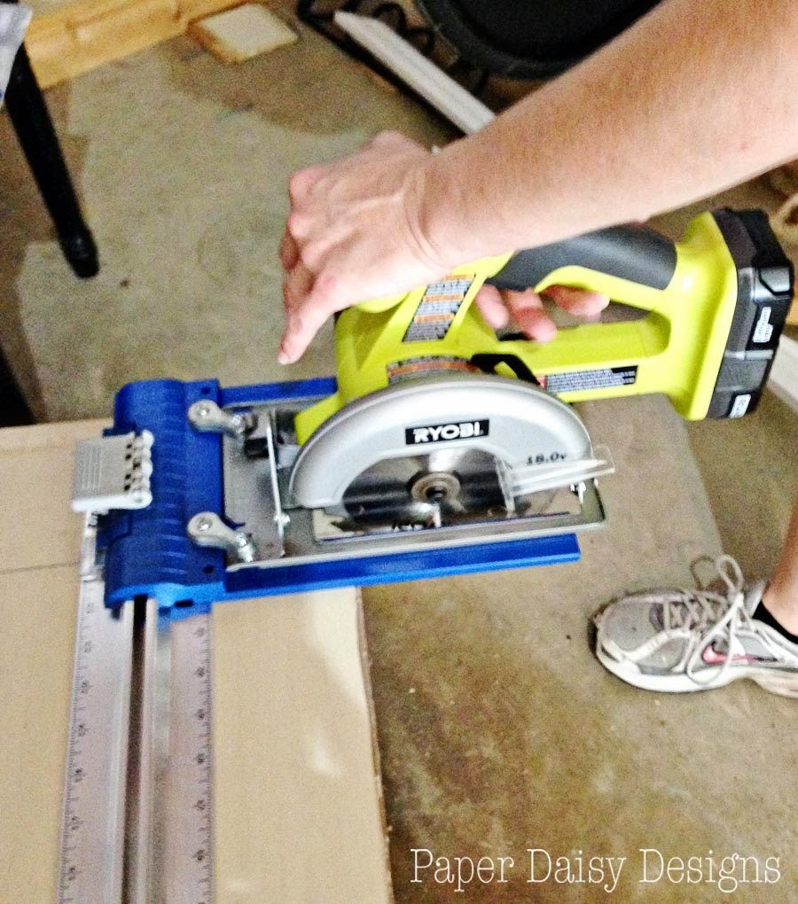 Using a kreg rip cut and ryobi circular saw to rip down sheets ryobi circular saw attached to a kreg rip cut which allows you to connect a greentooth Image collections