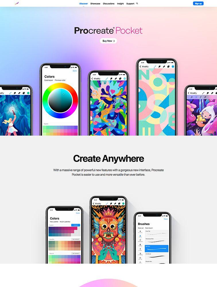 Procreate Pocket Pocket app, App, Web design