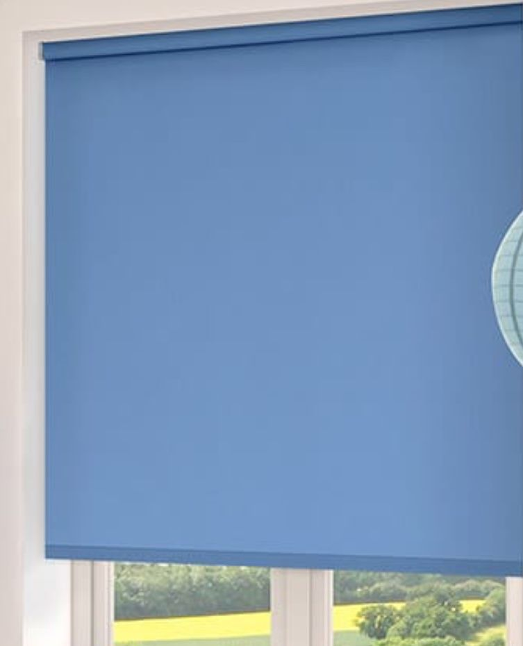 blue blinds for windows since people face windows this is a more