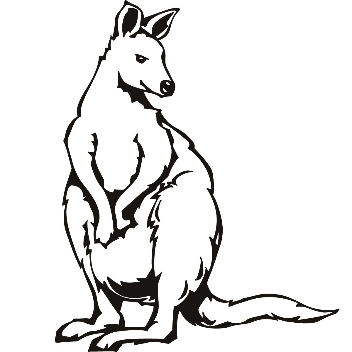 Line Art Kangaroo : Kangaroo coloring pages for kids pictures