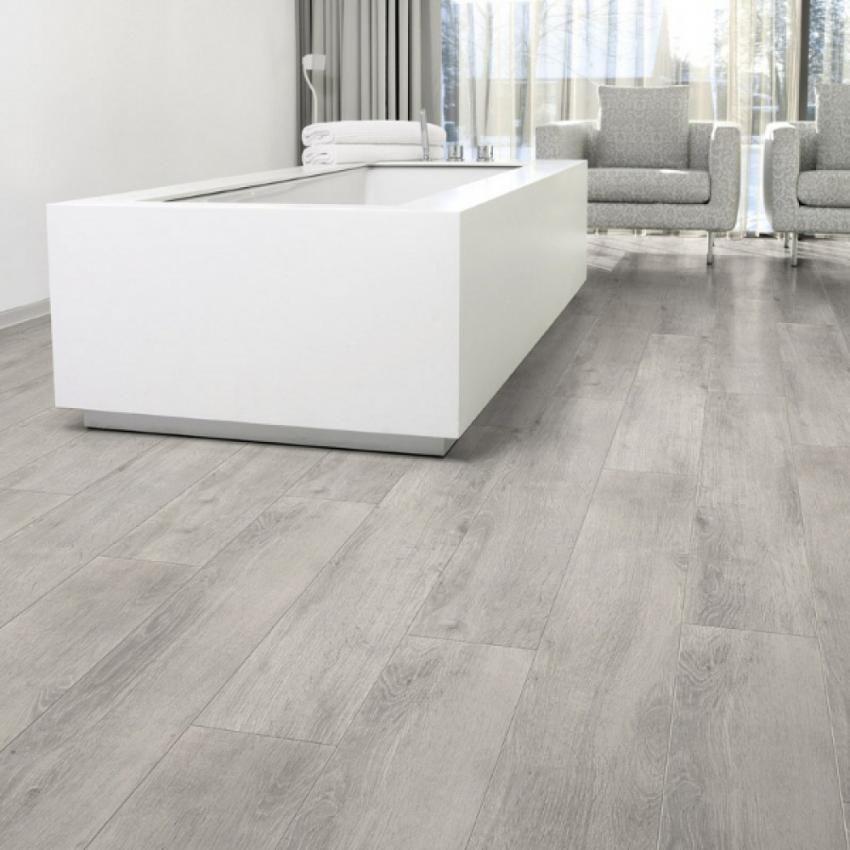Download Wallpaper White Kitchen Grey Laminate Floor
