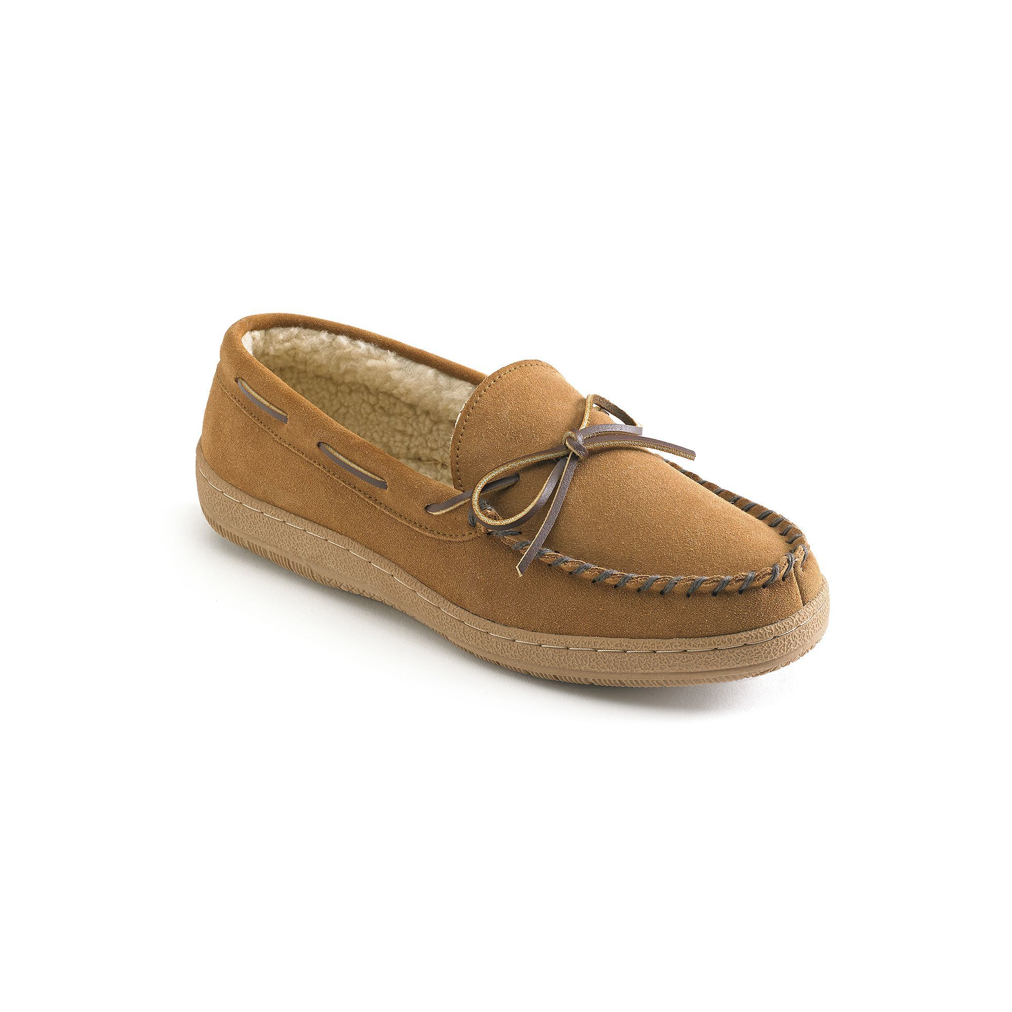 0e69f20878 Hideaways by L.B. Evans Morgan Men s Suede Moccasin Slippers
