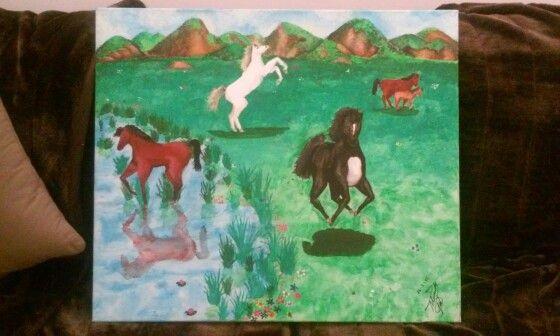 Quadro pintado com aguarelas.