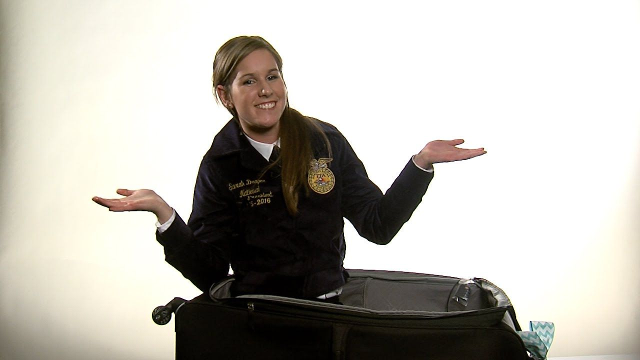 Traveling for an FFA event? Learn some packing tips from Sarah! #FFAo2o  Sarah Draper is the 2015-16 National FFA Western Region Vice President from Utah.