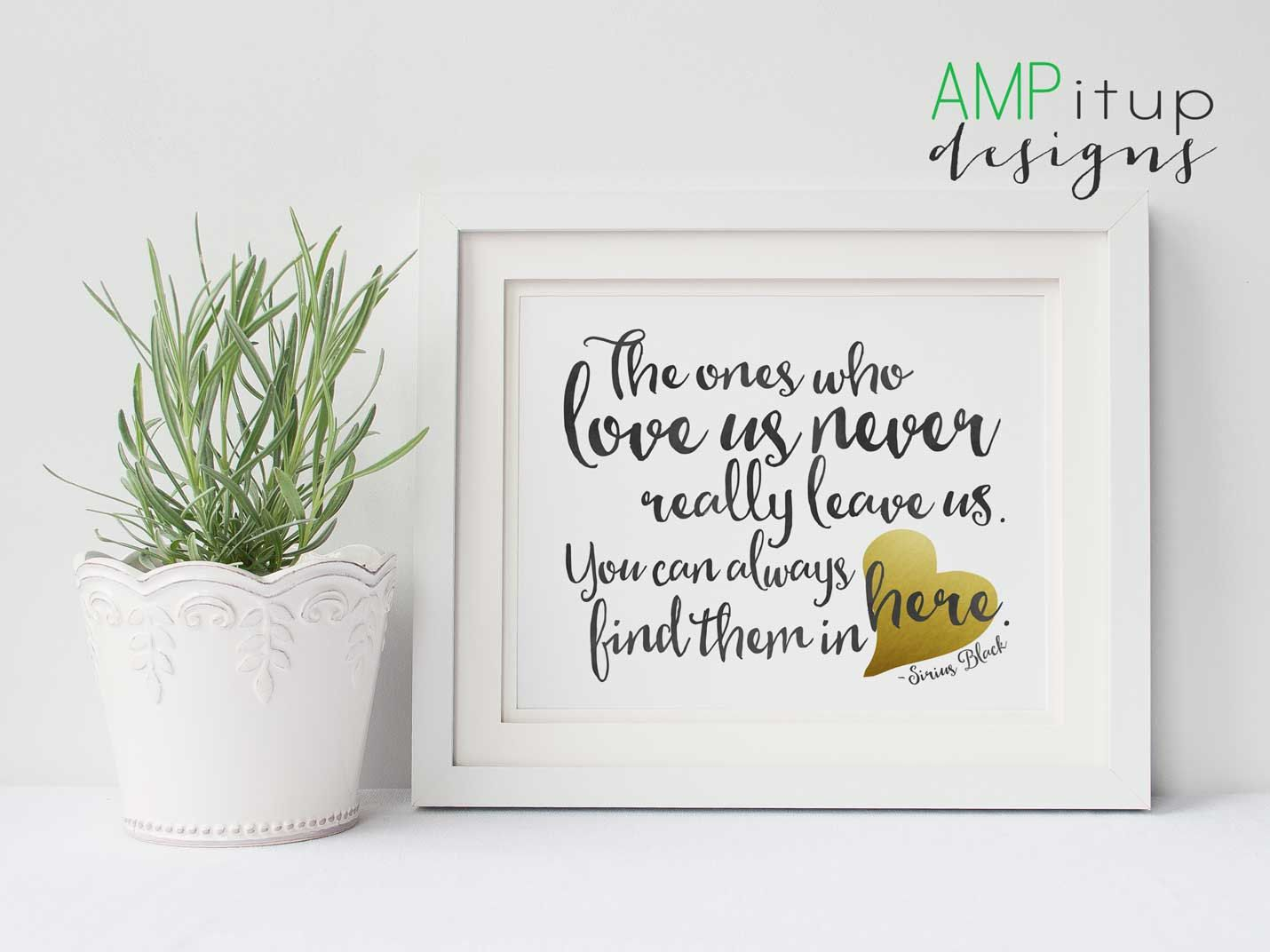 Black and Gold Printable Home Decor - Harry Potter Quote - The