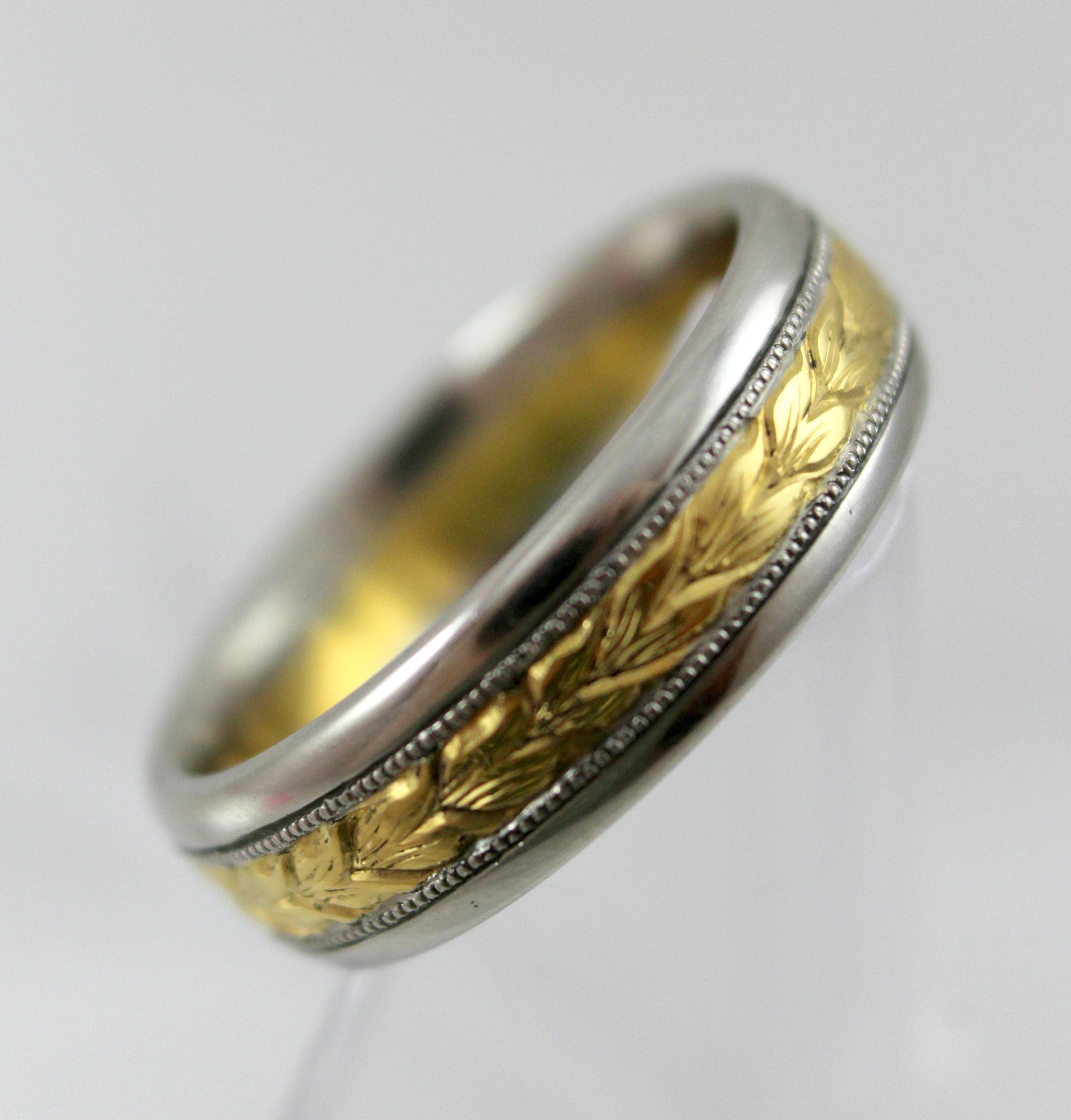 Michael Beaurdy Two Tone Platinum and 18K Gold Men's