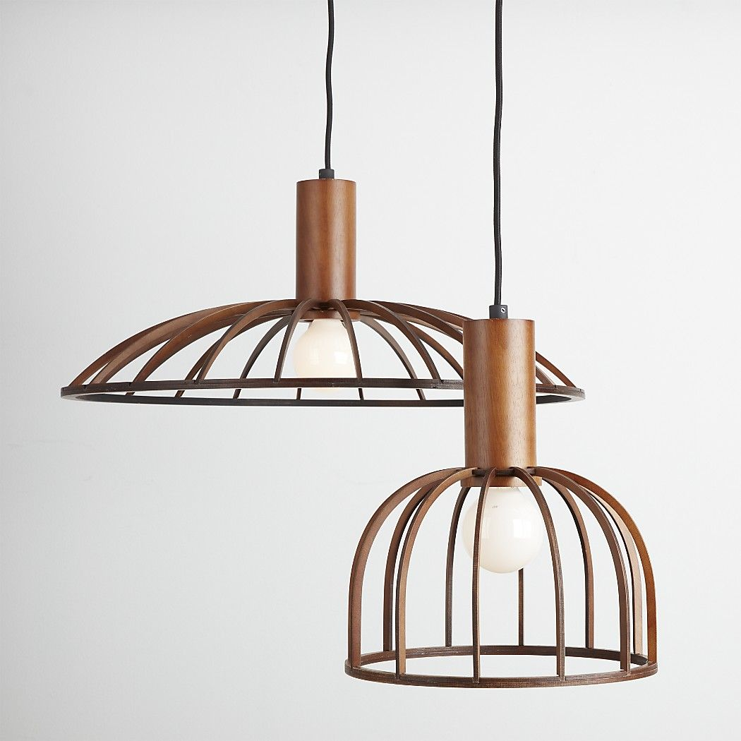 Wooden Lighting Pendants Shop Mermelada Small Wood Cage Pendant Light Small Wooden