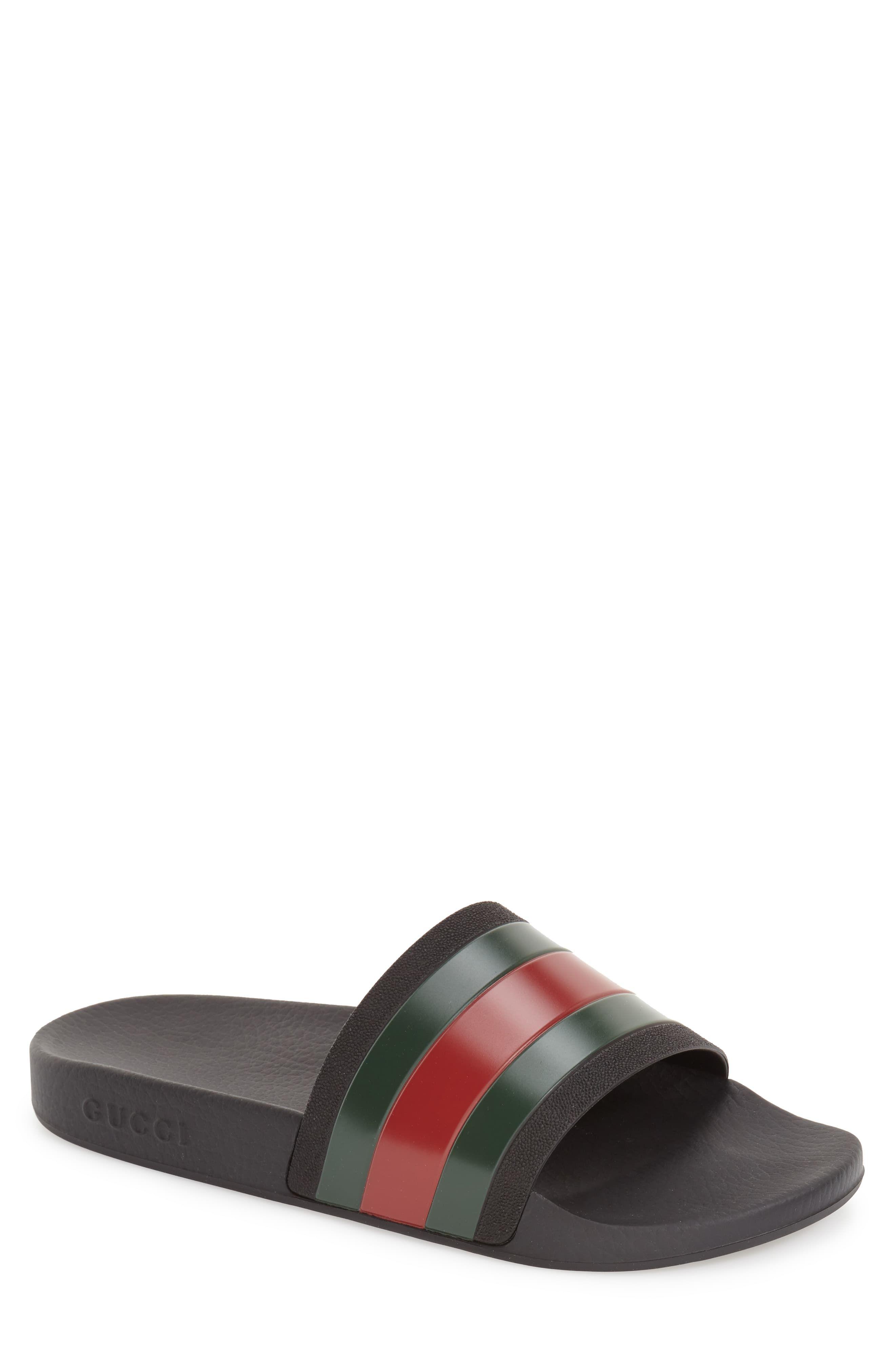 Men S Gucci Pursuit Rubber Slide Sandal Size 14us 13uk Black In 2020 Dress Shoes Men Mens Sandals Sneakers Men