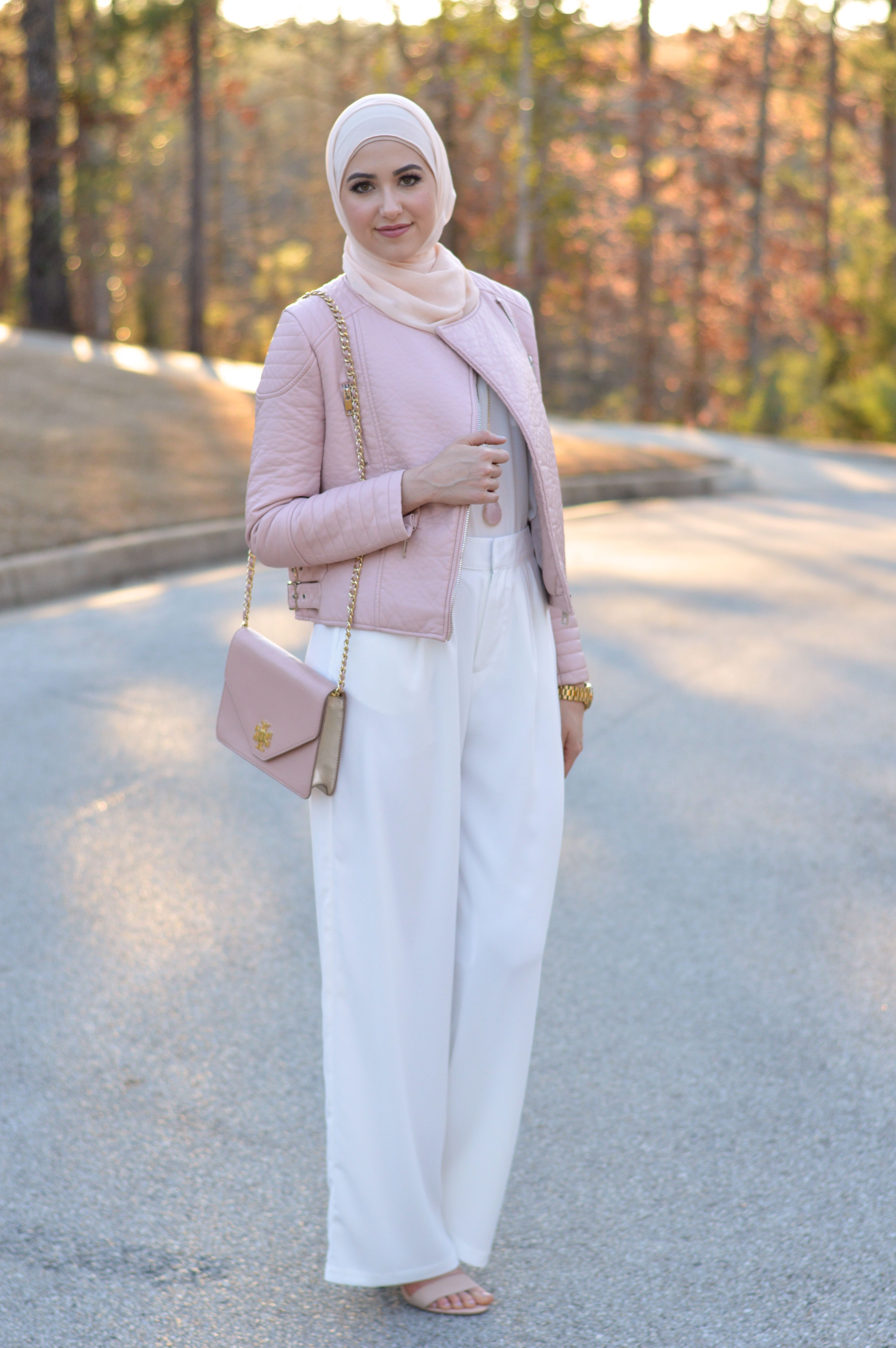 Leather jacket hijab - With Love Leena A Fashion Lifestyle Blog By Leena Asad