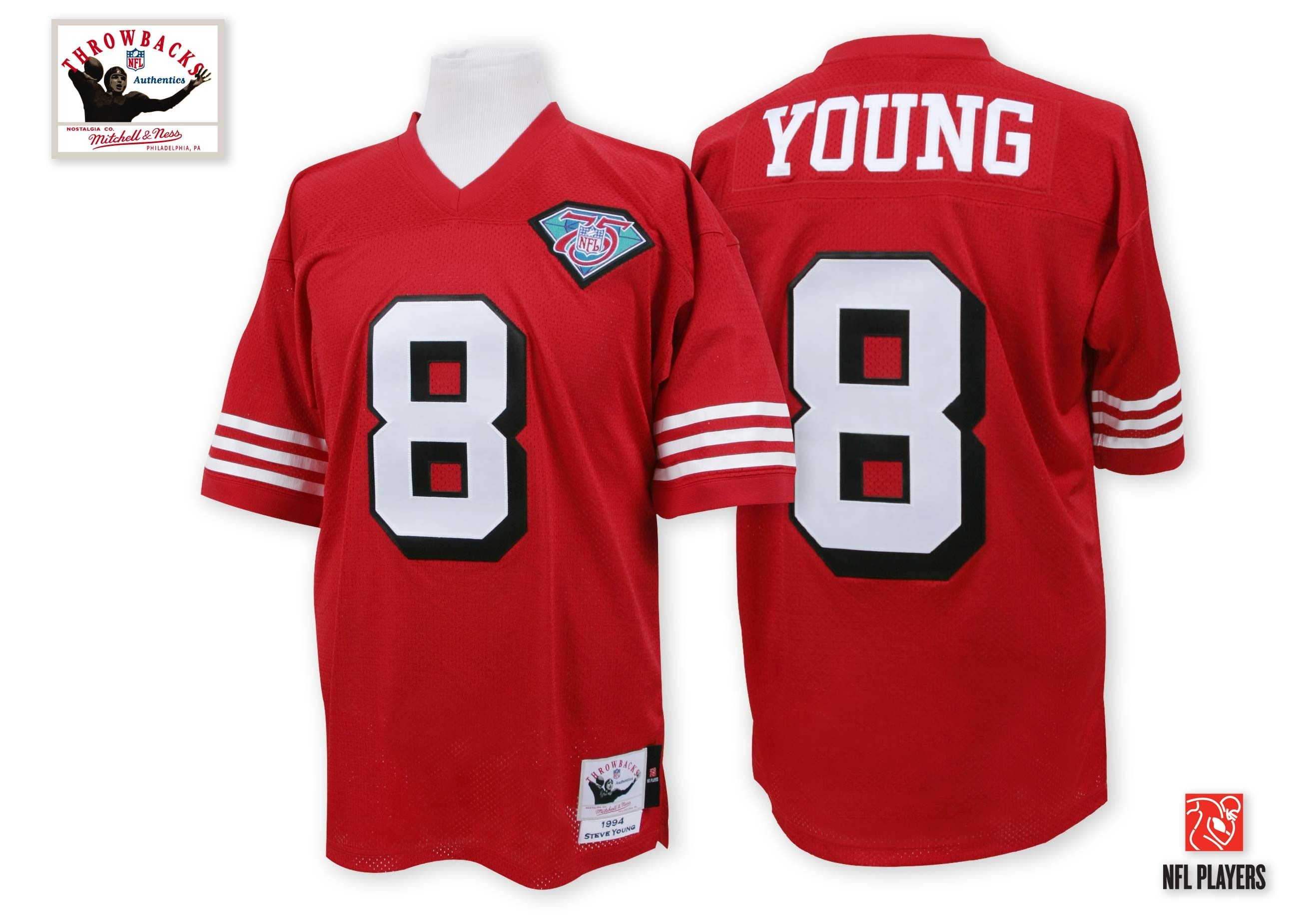 8f0dbee32cc Check Out Steve Young s 1990 Authentic San Fransico Jersey    www.throwbackworld.com
