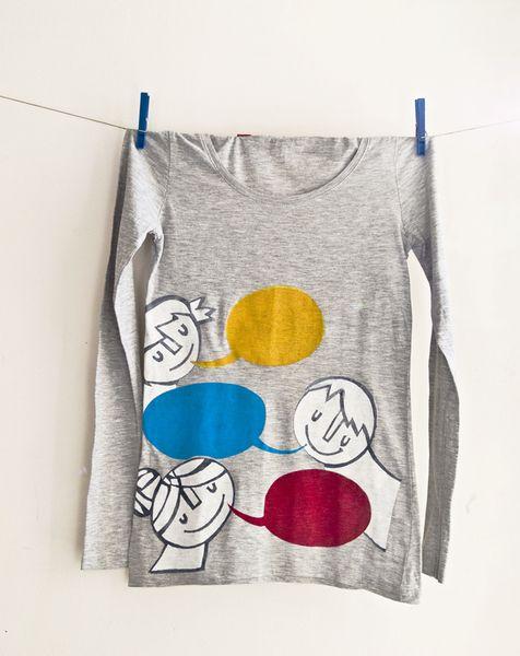 """""""Wir plaudern Farbe!!!"""" Und weil das so viel Spaß macht gibt es das bunte Geplapper jetzt auch auf einem T-Shirt!"""