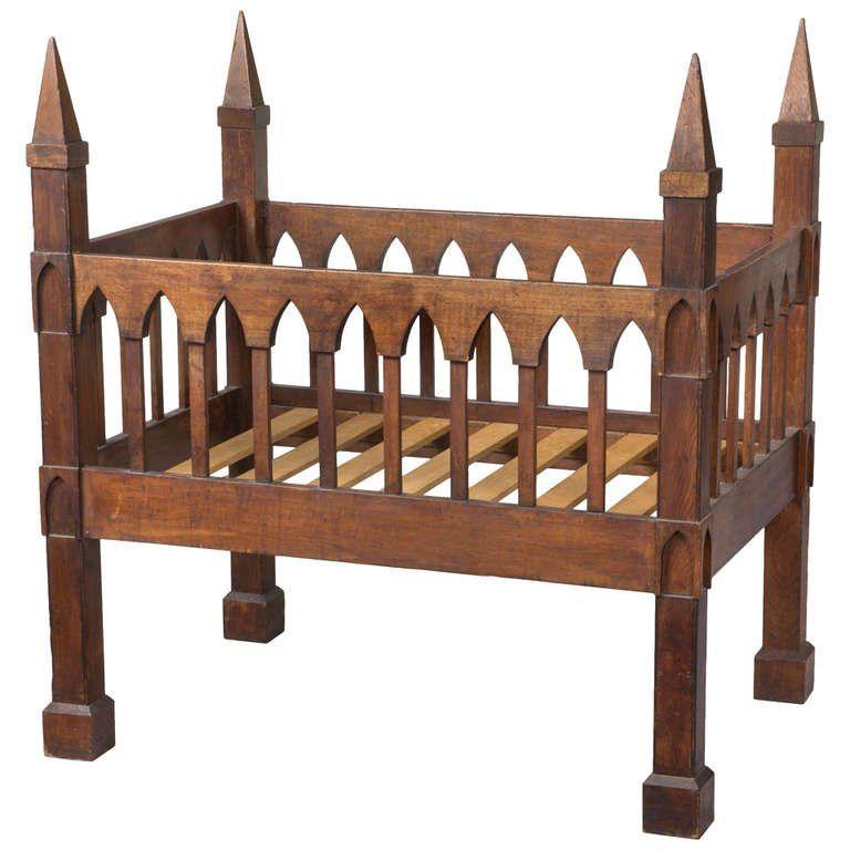 Gothic Crib, Black Walnut, United States, circa 1835-1845 | Bizarro