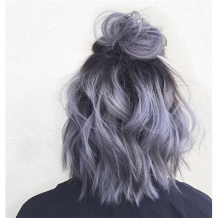 How To Metallic Lilac Hair Color Hair Styles Short Hair Styles