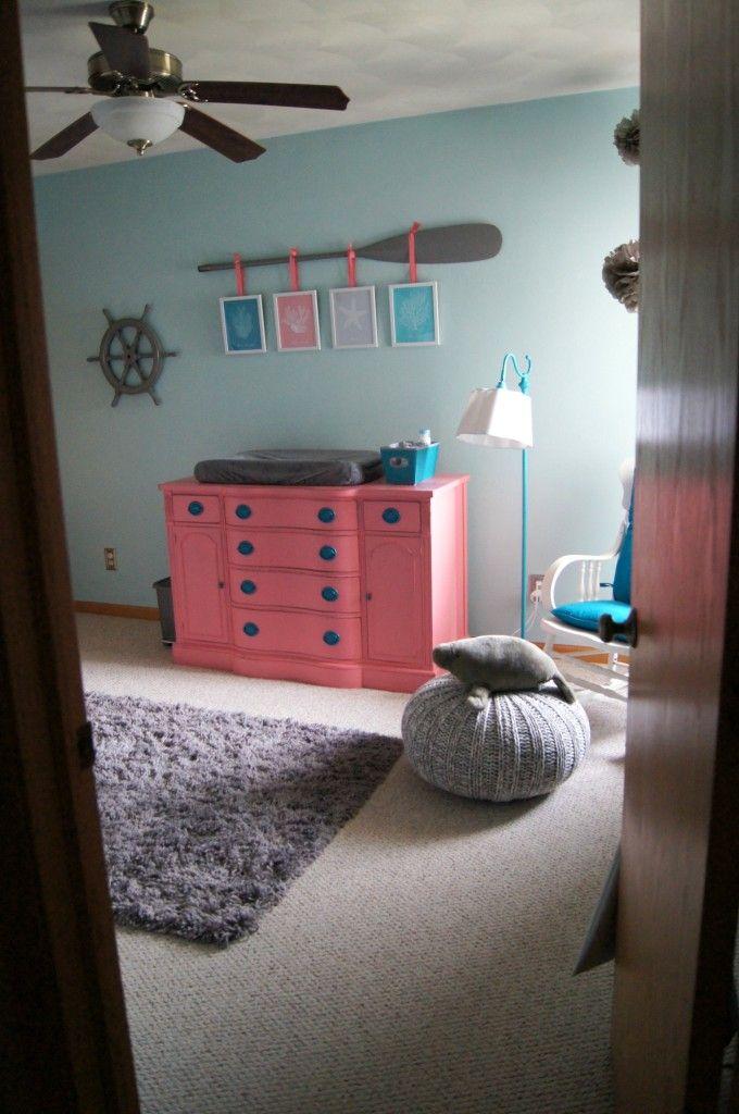 Baby Themed Bedroom Ideas: Mermaid Inspired Nursery