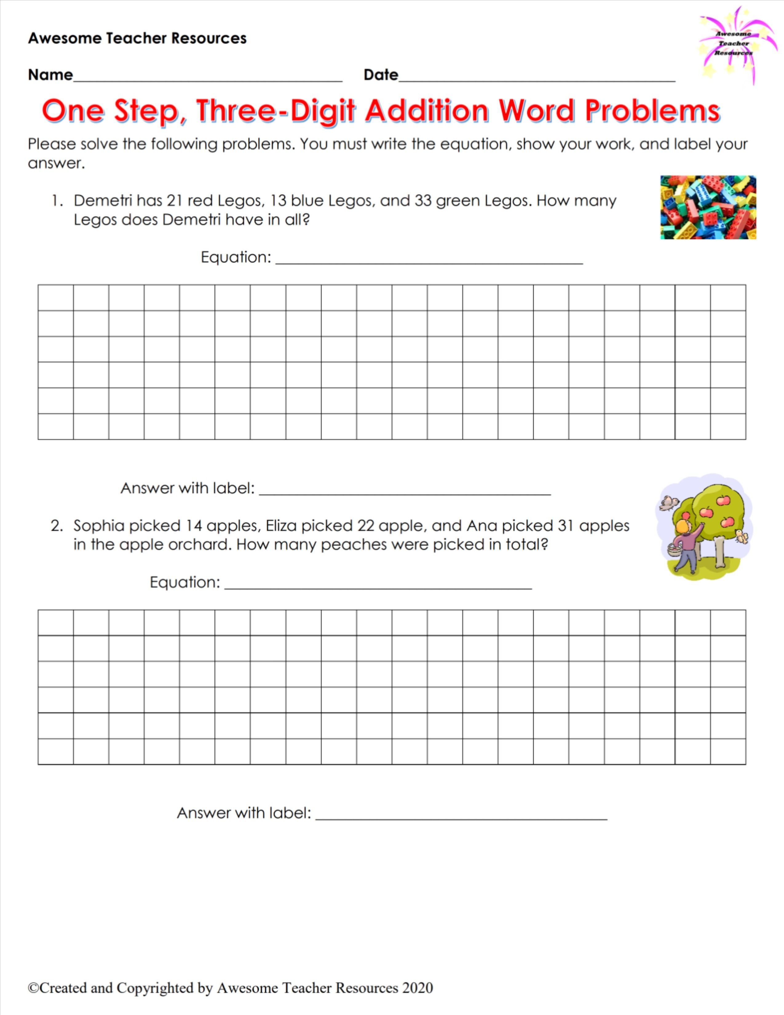 Add Or Subtract Differentiated Word Problem Sorts Word Problem Worksheets Word Problems Math Story Problems