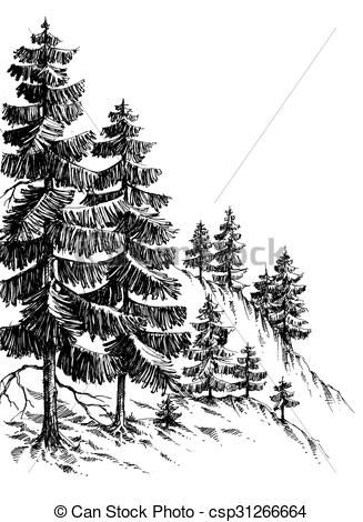 Related Image Ps 96 11 12 Landscape Drawings Pine Tree Drawing Landscape Sketch