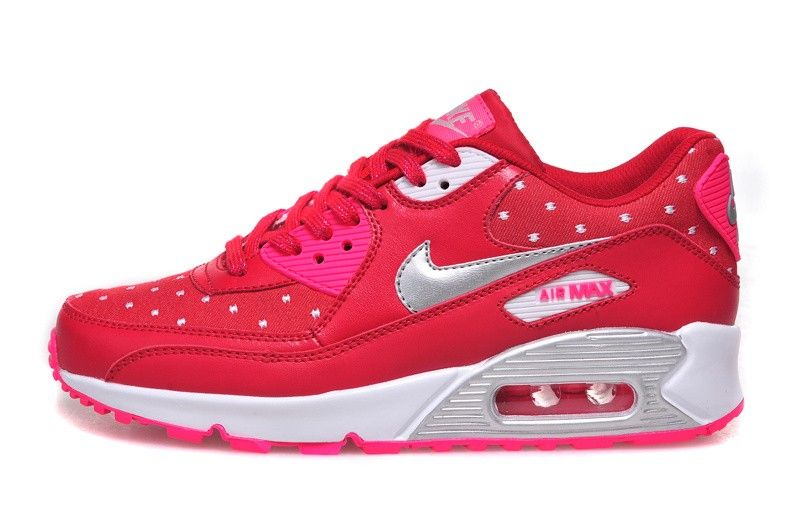 Nike Air Max 90 PRINT (GS) 704953 602 Valentine Red and