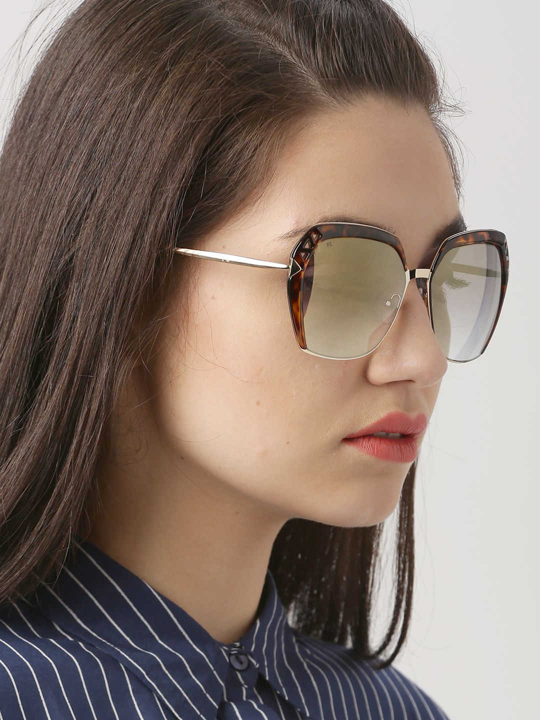 c901dd000b French Connection Women Mirrored Rectangle Sunglasses FC 7382 C1 S ...