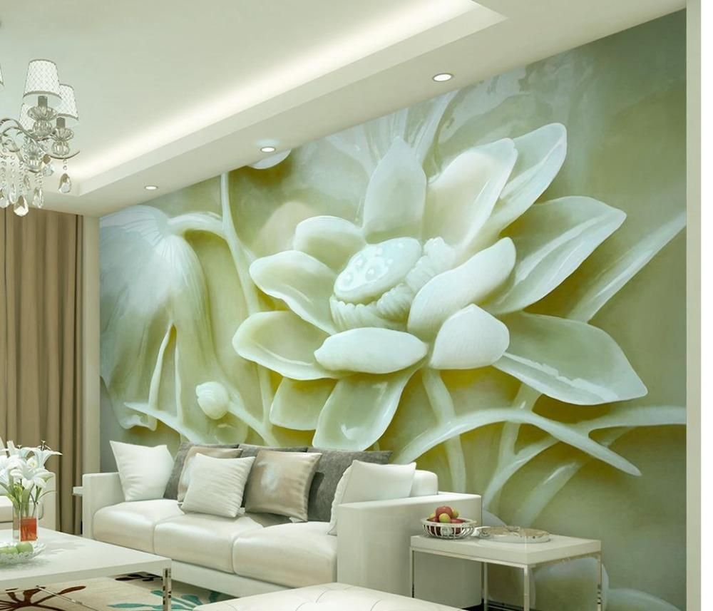 Papel De Parede Relif Floor Mural Non Woven Wallpaper Home Decoration  Flowers Also Rh Pinterest