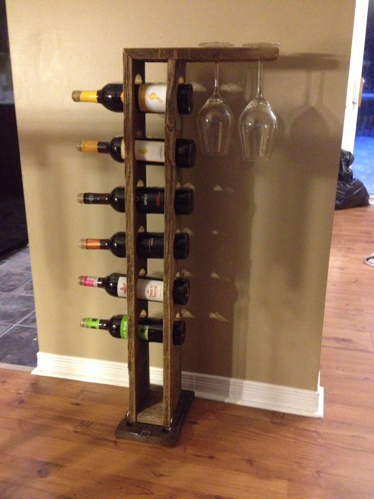 Barn board wine rack | Wine rack, Wine, Barn board