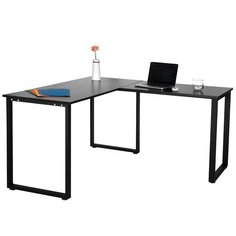 office corner workstation. Merax L-Shaped Office Workstation Computer Desk Corner Home Wood Laptop Table Study (Black) - My Supplies