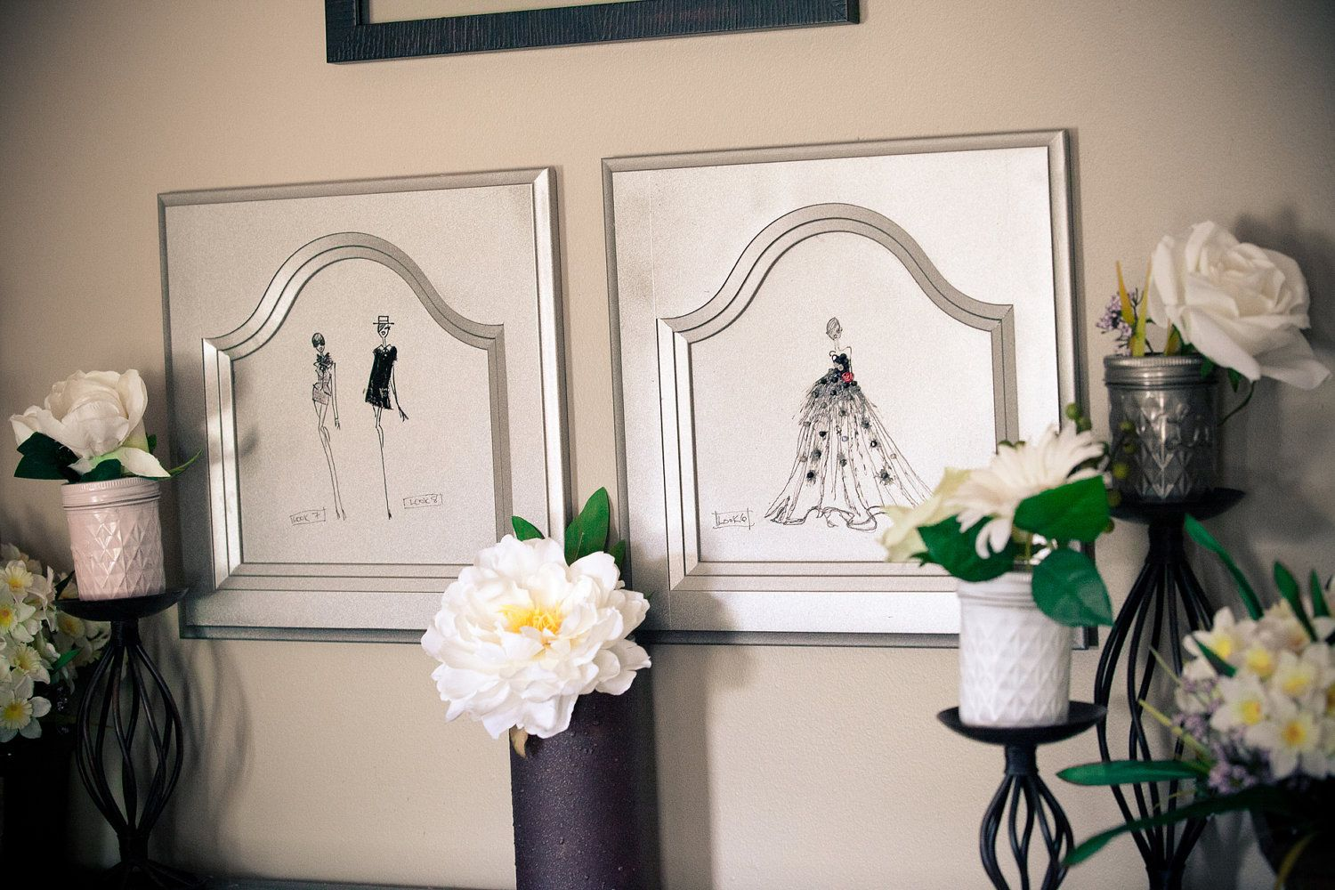 "image transfers on cabinet door ""frames"" 