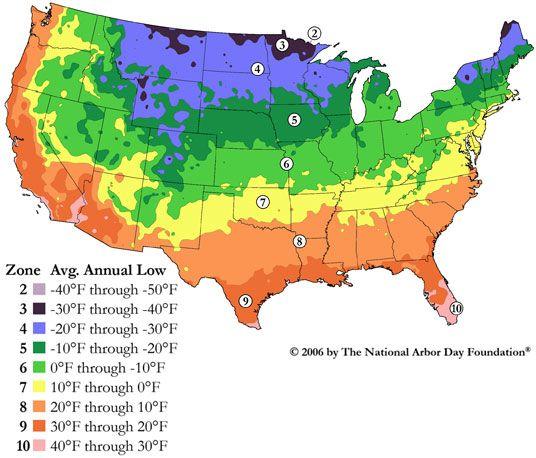 US Hardiness Zones