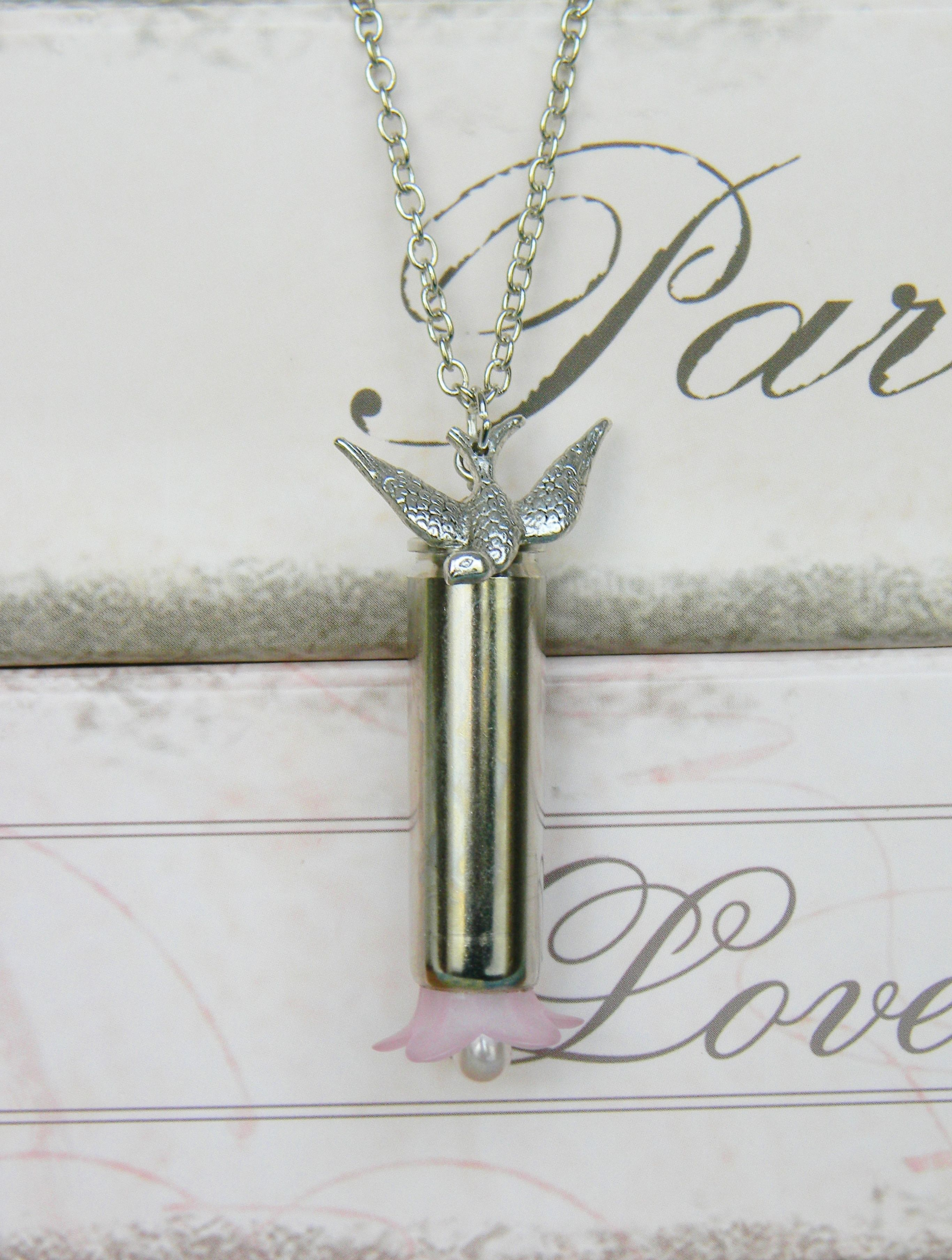 bullet necklace, bullet jewelry