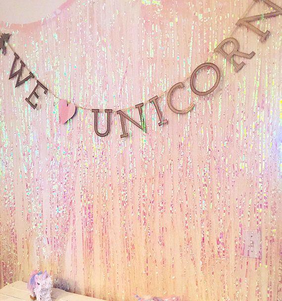 Fringe Curtain Iridescent Curtain Shimmer Curtain Foil Unicorn