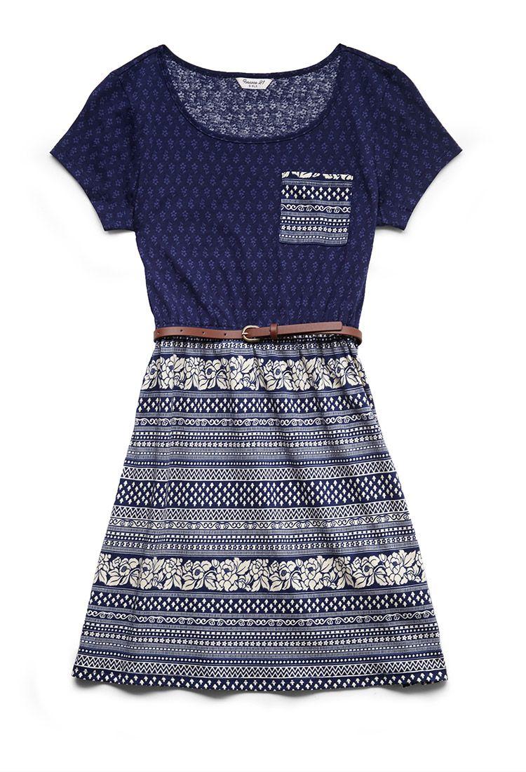Floral Striped Skater Dress (Kids)   Fashion   Pinterest   Kleider