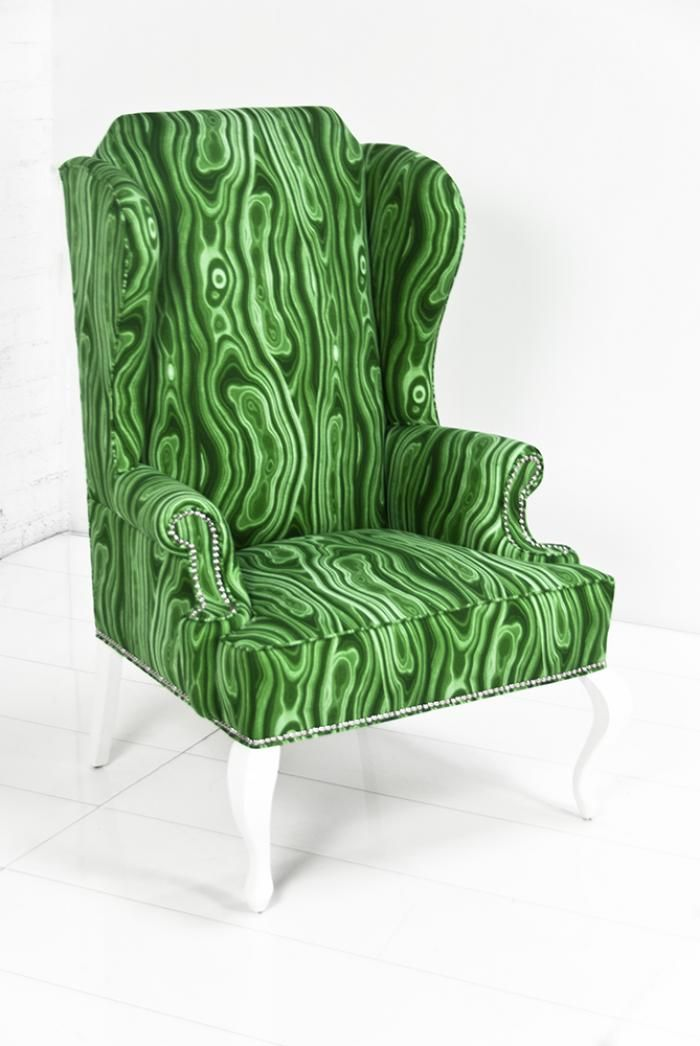 Model Of Brixton Wing Chair in Malachite Linen Modern Wing Chairs For Your Plan - Contemporary modern wingback chair Beautiful