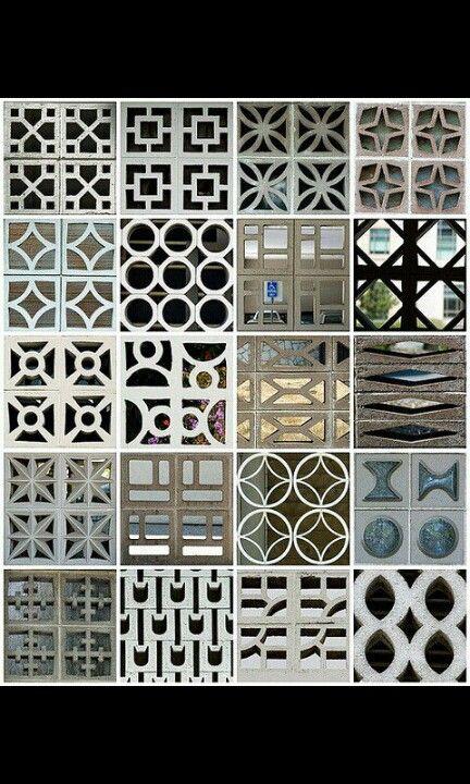A Incresible Collage Of Mexican Bricks Breeze Block Wall Concrete Decor Breeze Blocks