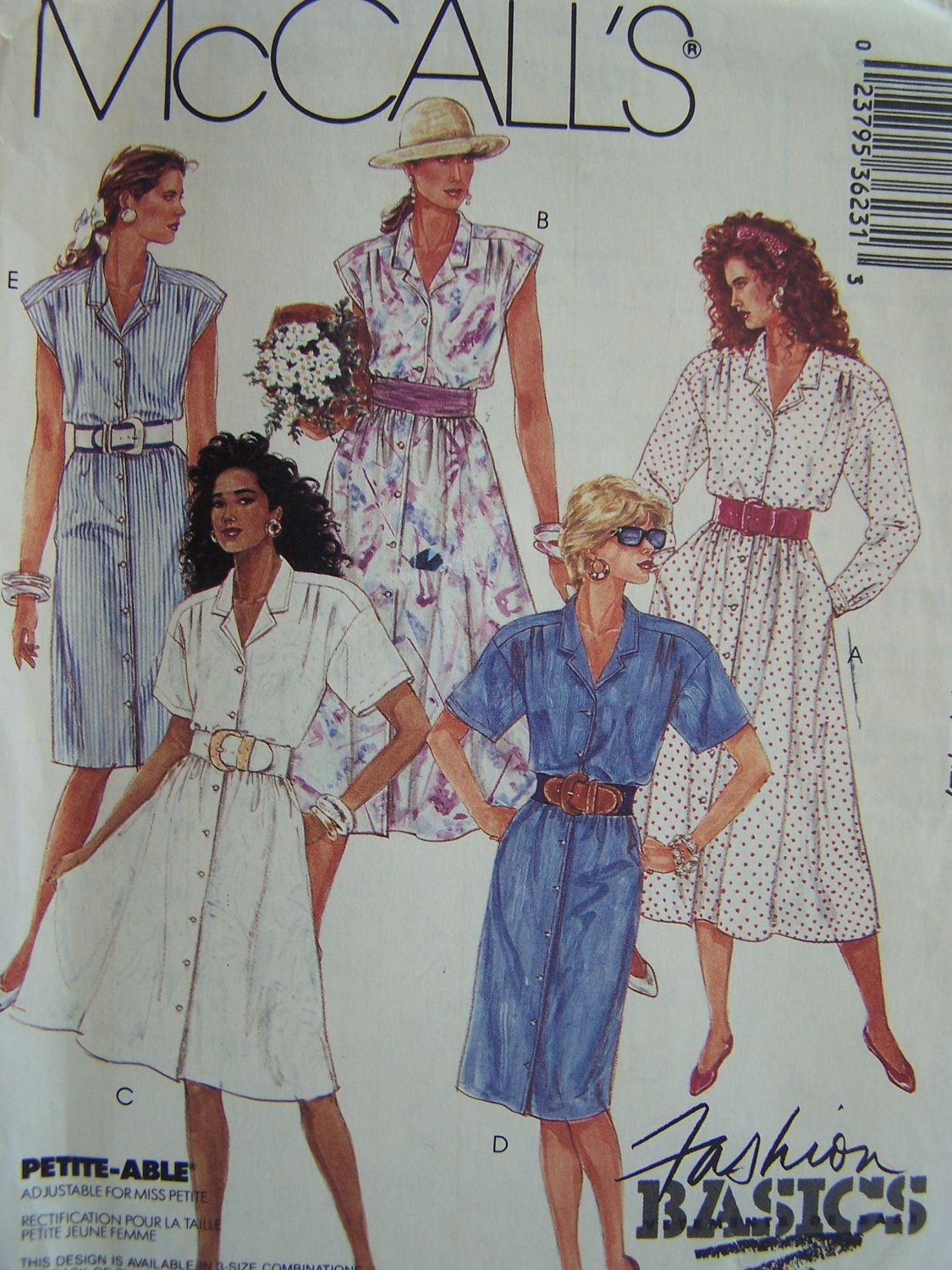 Sale Vintage 80 S Mccall S 3623 Sewing Pattern Misses Front