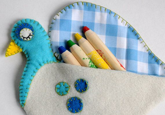 Pencil Pouch | Pigeon Pencil Case PDF Sewing Pattern | Crayon Holder ...