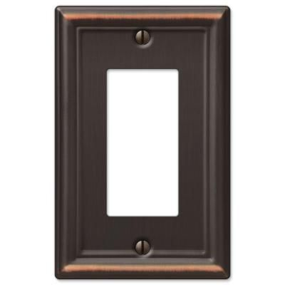 Hampton Bay Ascher 1 Decora Wall Plate Oil Rubbed Bronze Stamped