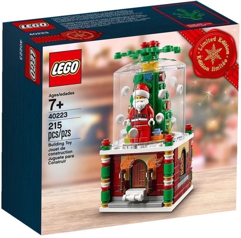 Lego 2016 Exclusive Snowglobe Set 40223 With Santa Mini Figure