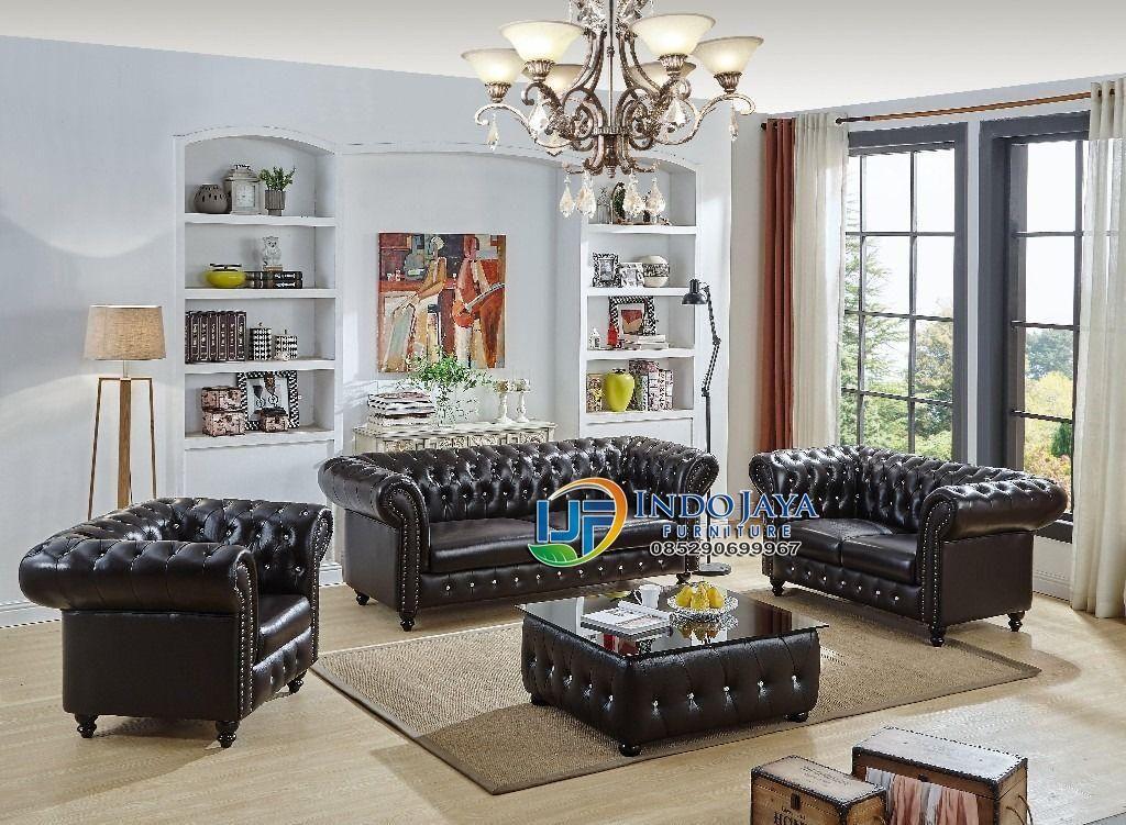 Set Sofa Ruang Tamu Minimalis Modern Sofa Kulit Terbaru Jepara