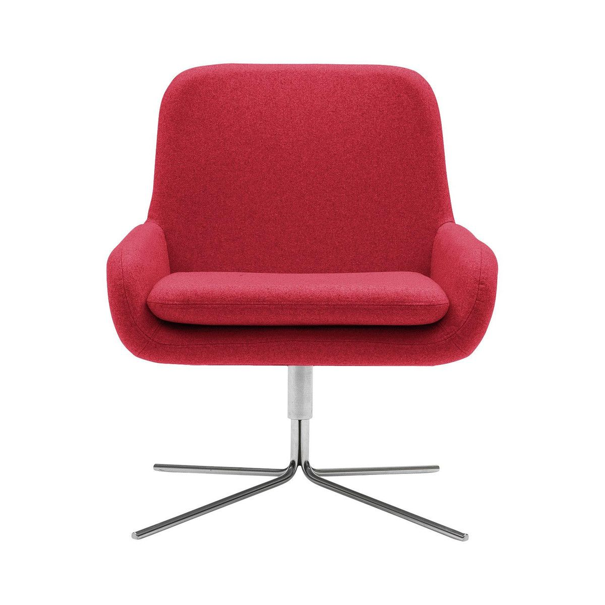 Drehsessel Rot Softline Coco Drehsessel Rot Filz 622 Wohnung Swivel Chair