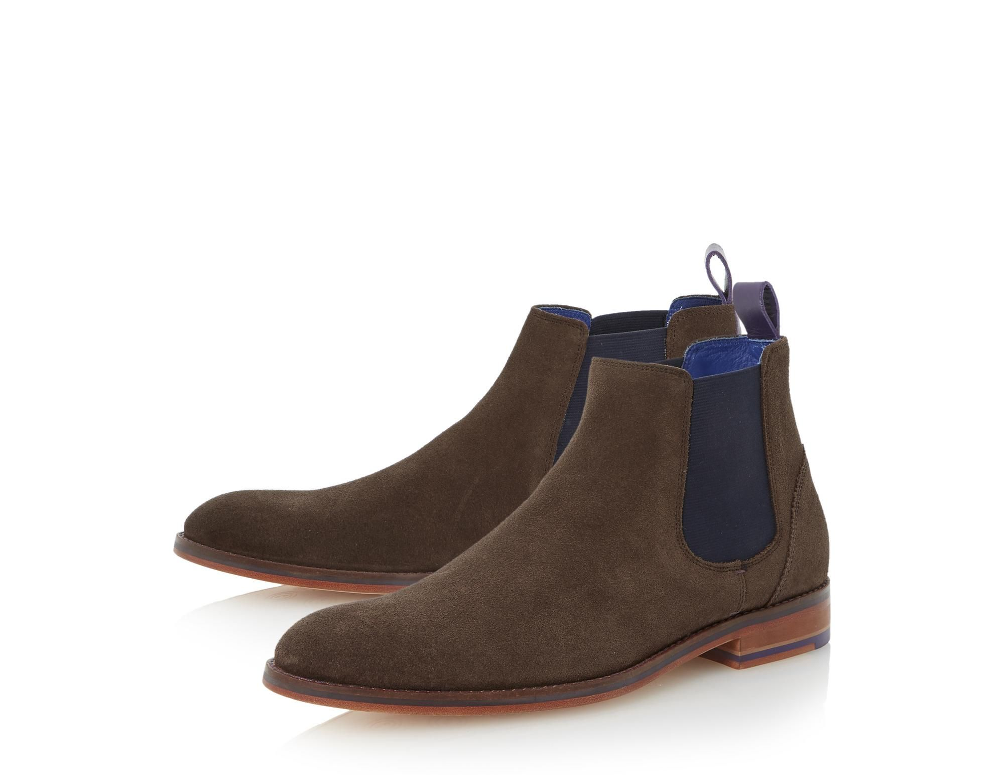 Ted Baker Mens Camroon Suede Chelsea Boot With Contrasting Panels