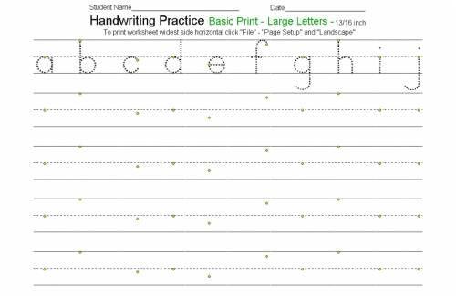 Free Customizable Handwriting Worksheets Handwriting Worksheets
