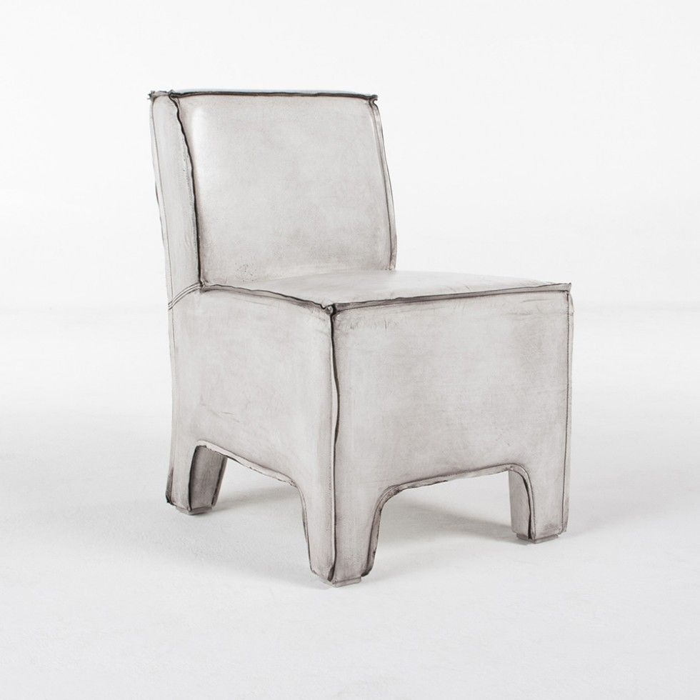 MAX ARMLESS LEATHER SIDE CHAIR WHITE - Seating - Living - HD ...