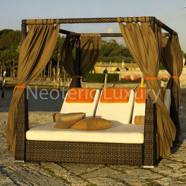 Neoteric Luxury 10-3511538 Setai XL Daybed | Outdoor ... on Living Spaces Outdoor Daybed id=63748