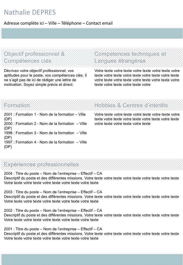 Exemple De Cv Bleu Colonne Gratuit A Telecharger Exemple Cv Nettoyer Joints Carrelage Colonnes