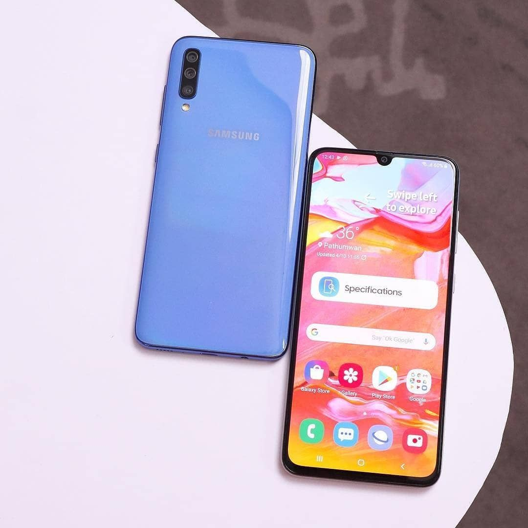 Alaxy A70 A Great Phone For A Great Price From 500 To 400 Save 20 Click The Link In Bio To Get It From Amazon Only 1 B Phone Samsung Galaxy Smartphone