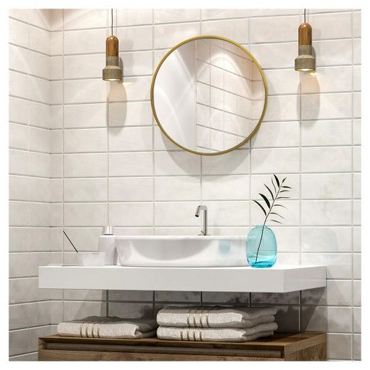Decorative Circular Wall Mirror - Brass - Project 62, Black ...